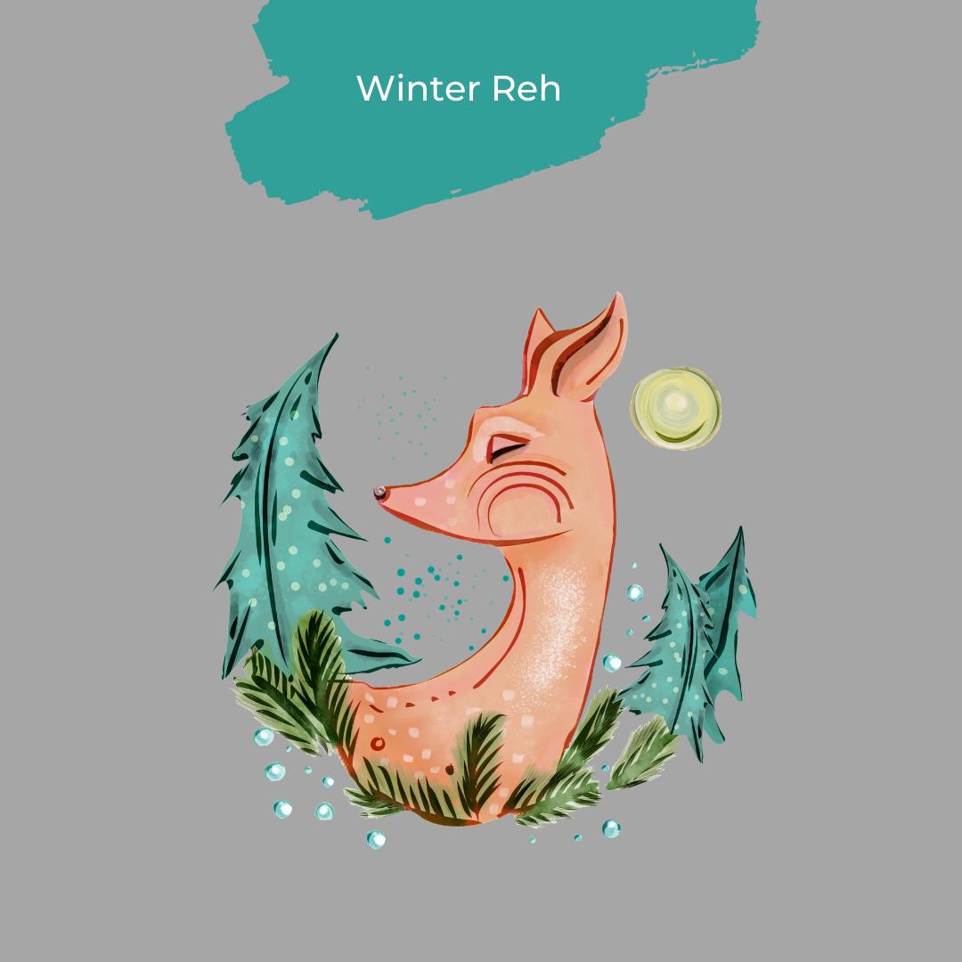 Winter Reh Design von Strandmuschel