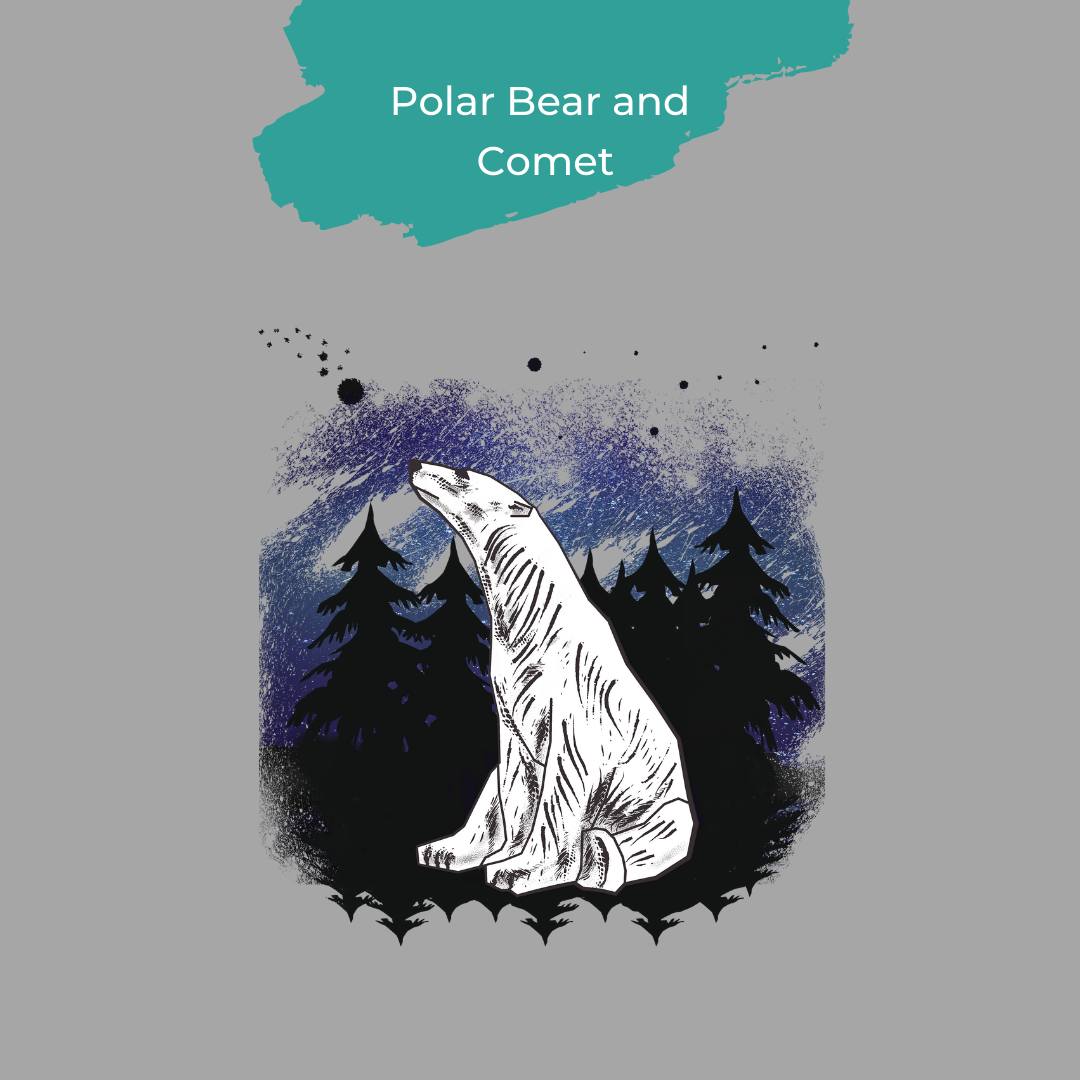 polar bear and comet design from Strandmuschel