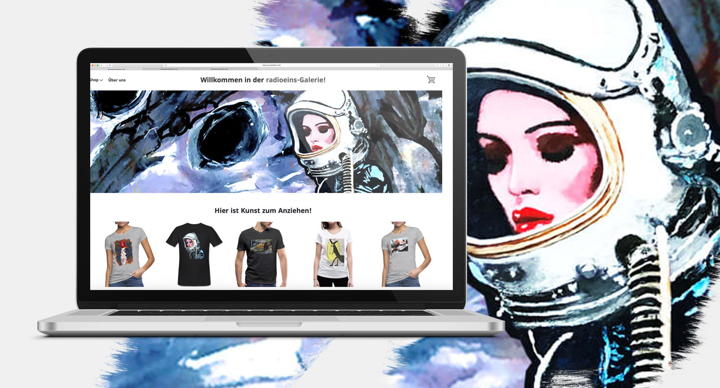 T-shirts Worn as Canvases – Spreadshop Supports Local Artists